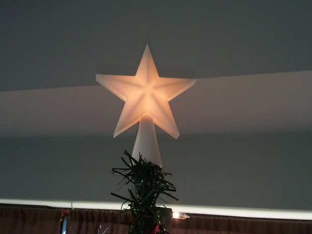 Desktop Christmas Tree Star Topper By Marvec6