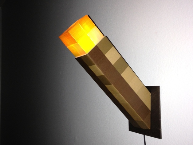 Minecraft Torch Nightlight By Superinframan Thingiverse