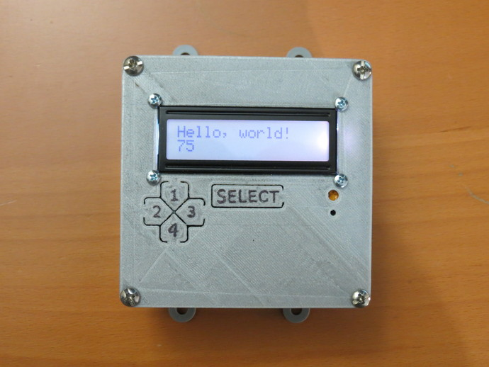 Arduino lcd button faceplate by jwags thingiverse