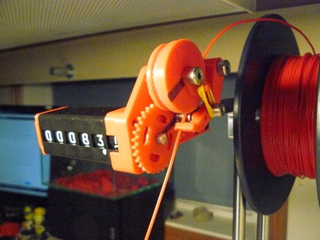 Filament length counter (Printrbot simple metal)