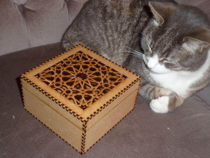 laser cut wood box template - islamic pattern lasercut box by yourlaser