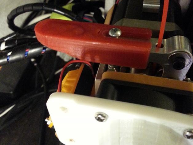Slide-On extruder arm (Printrbot)