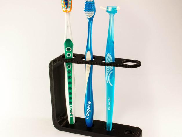 Quad Toothbrush Holder by JMSchwartz11 - Thingiverse
