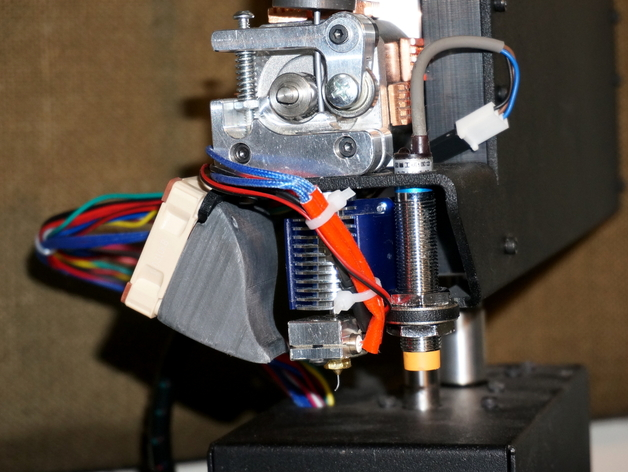 Fan Shroud for E3D v6 Hotend on Printrbot Simple Metal with Secure Fit Spacer