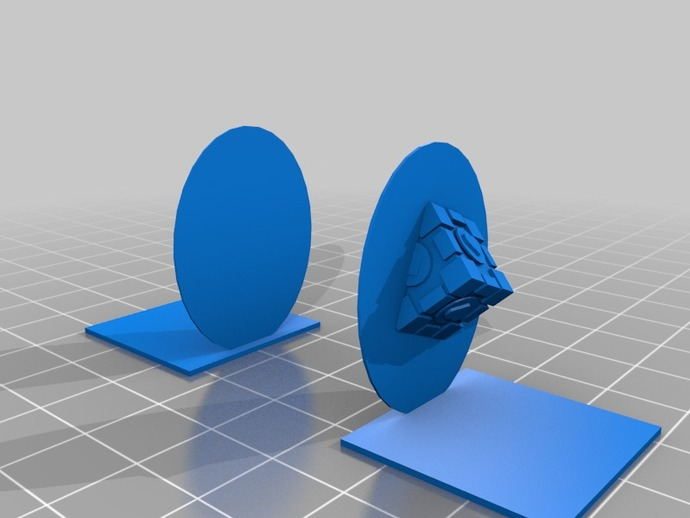 Portal bookend upright by carter thingiverse - Portal bookend ...
