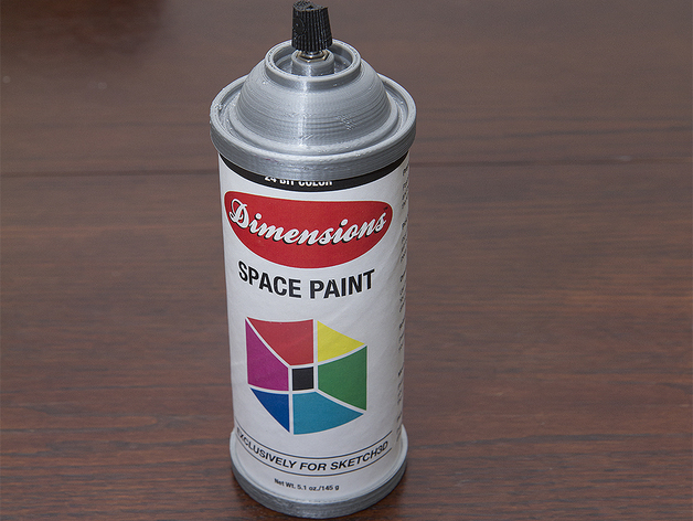 Spray paint can by kellyegan thingiverse Paint with spray can
