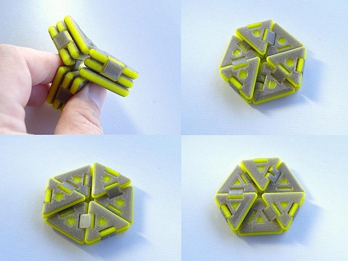 Designs Hexaflexagon Print Out Template