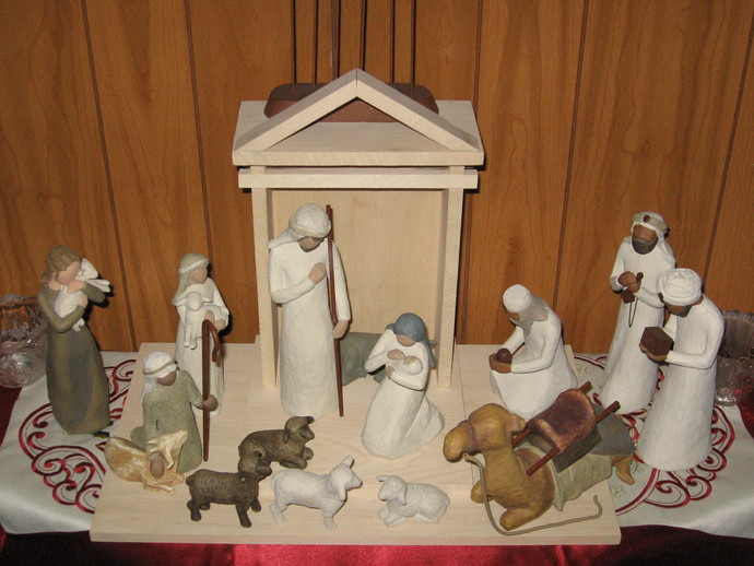 Willow Tree Nativity Scene Stable By Hanndmaker Thingiverse