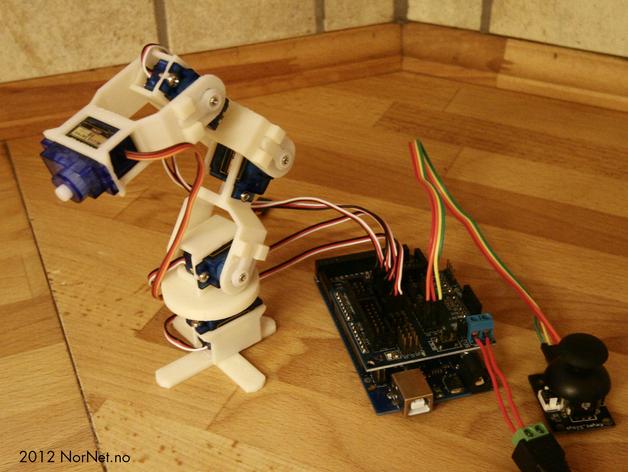 Micro Robot Arm 9g Micro Servo See Video By Bentommye