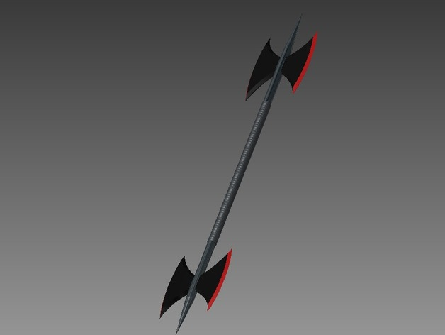 Double-Sided Battle Axe by KuMalihah - Thingiverse