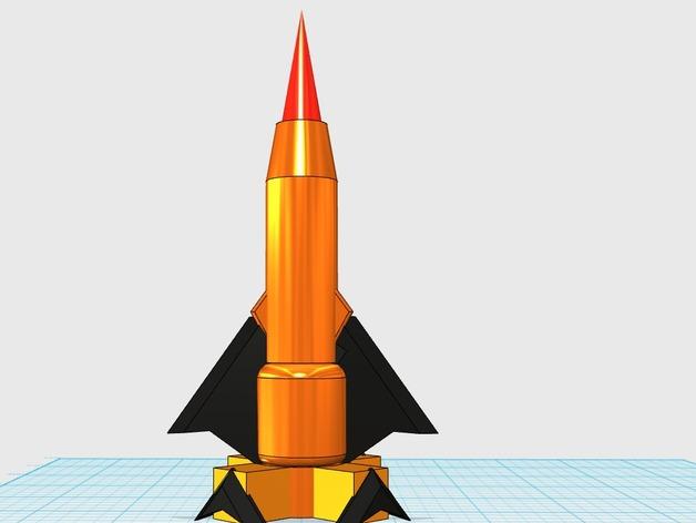 cool rocket plane by zebster thingiverse. Black Bedroom Furniture Sets. Home Design Ideas