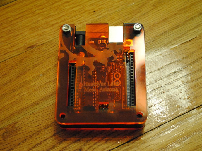 ORANGE TRANSPARENT ARDUINO