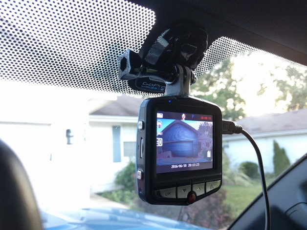 Gopro Dash Cam >> Dash Cam to GoPro Mount Adapter for Toyota Tacoma by EvilBetty - Thingiverse