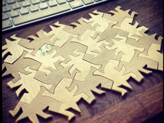 Escher Lizzard puzzle for CNC