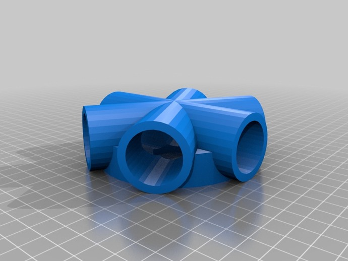 6 Way Pvc 3 4 Fitting Rev 4 By Tbitson Thingiverse