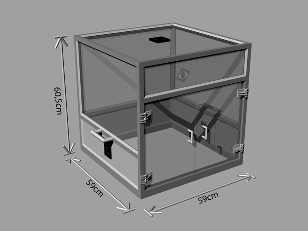 Printable Modular Prusa Reprap 3d Printer Enclosure