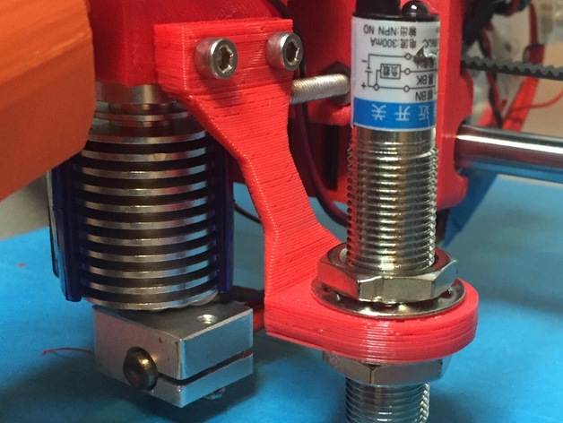 Proximity Senson Holder for Prusa i3 Rework 1.0 Extruder Wade