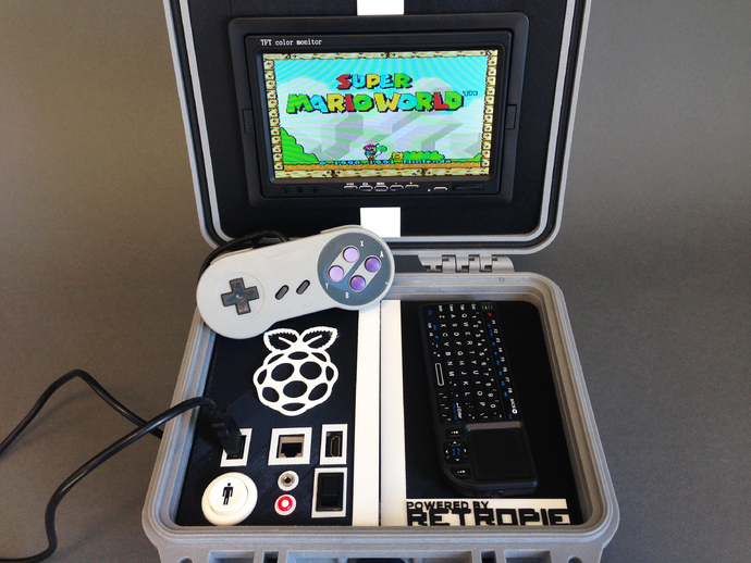 Retro Pie Box - Portable Raspberry Pi Emulation Console ***OUTDATED VERSION***
