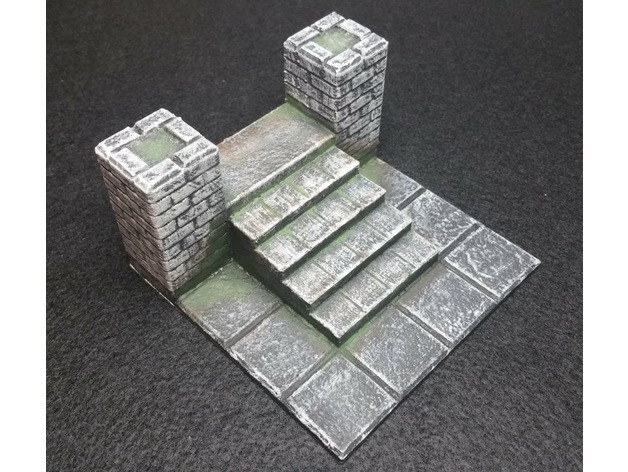 image regarding 3d Printable Dungeon Tiles named 3D Printable Tiles Dungeons Dragons: Castle Ravenloft
