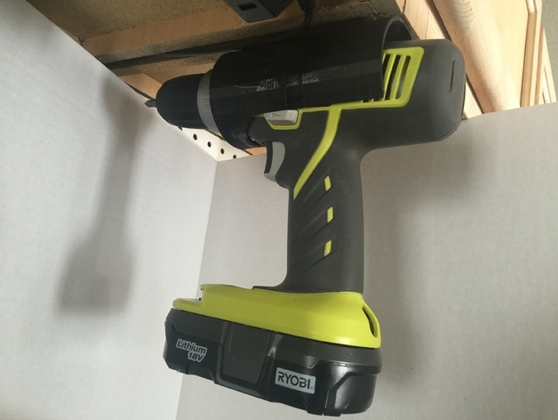 Ryobi Cordless Drill Holder by Elproducts - Thingiverse