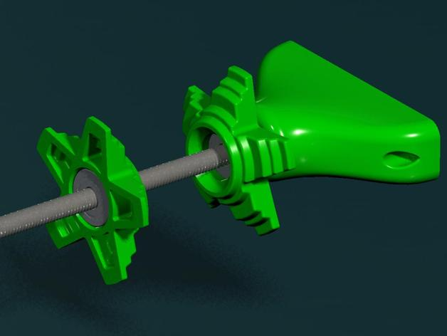 Printrbot Simple Metal - Horizontal Spool Holder and Filament Guide