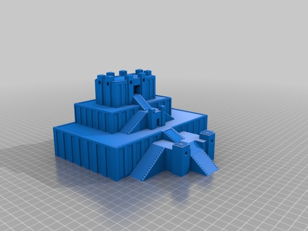 Hanging Gardens of Babylon Model by Padme - Thingiverse