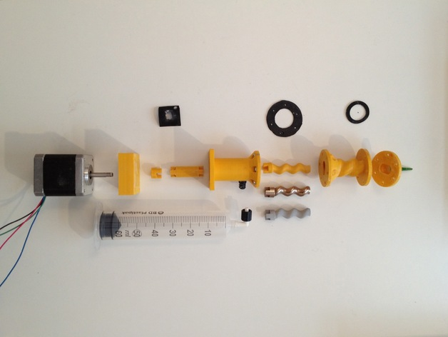 Moineau stepper extruder Luer lock updates