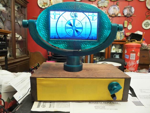 """Philo. The 7"""" retro LCD television, """" my recreation of the late 1950s Philco Predicta"""""""