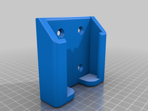 Wall mount phone holder by g00seman thingiverse - Wall mount headphone holder ...