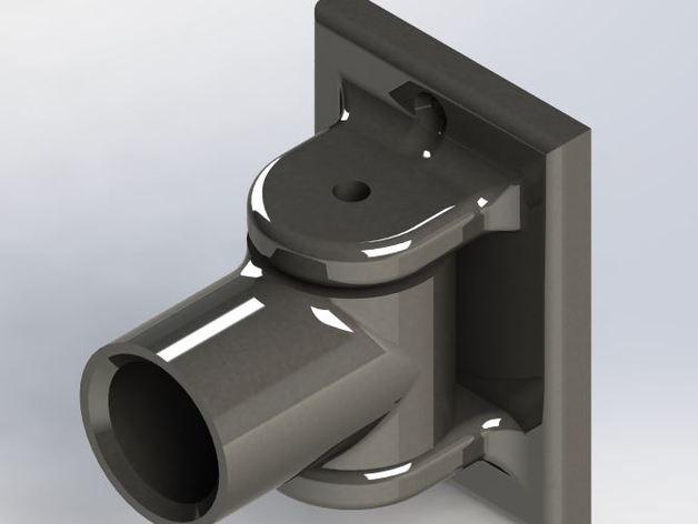 pivoting shower curtain rod bracket by jmcskixc thingiverse. Black Bedroom Furniture Sets. Home Design Ideas