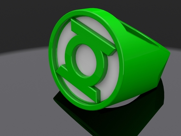 Green Lantern Ring Thingiview