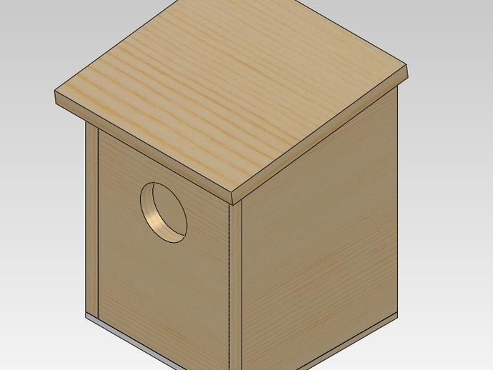 Proyecto fácil del kit del Birdhouse de DIY y toro; La galleta apta
