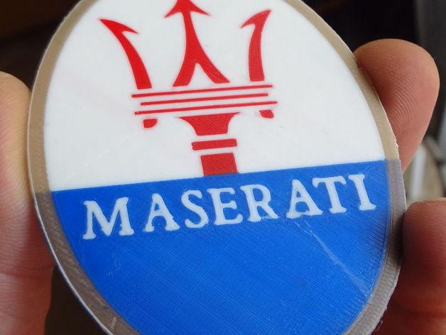 4 colors Maserati logo