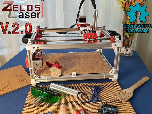 ZelosLaser Cutter 2.0 : Open Source, Sturdy & Versatile