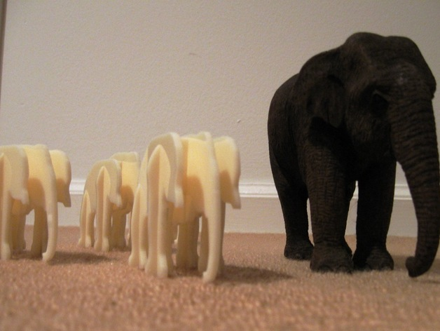 Elephant Table Ornament By Langfordw Thingiverse