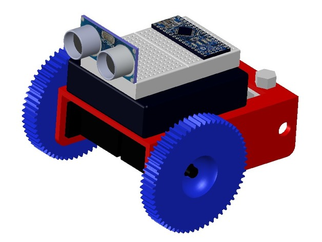 Autonomous obstacle avoidance arduino robot by gfrench