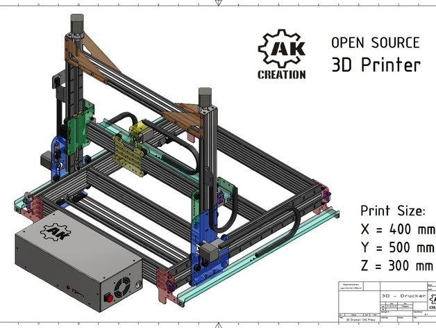3d Printer Cnc Mill Big Size By Ak Creation Thingiverse