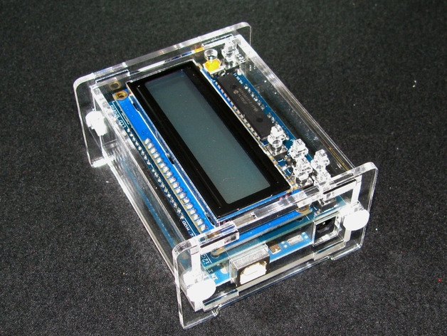 Arduino adafruit lcd shield case by builttospec thingiverse
