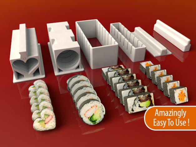 Sushi Maker Set By Meh4d Thingiverse