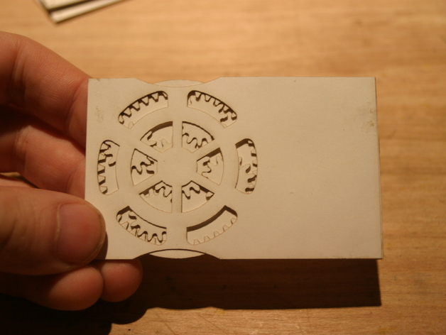 Planetary geared card!