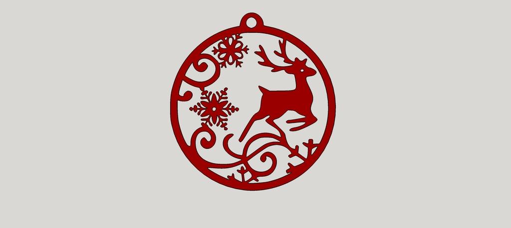 Deer with snowflakes