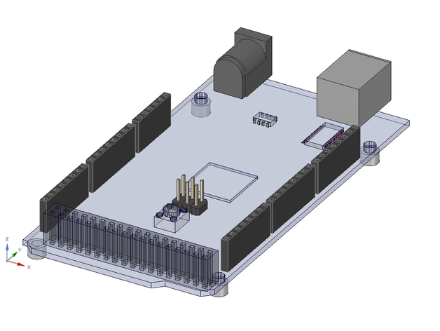 Arduino mega cad file for designspark mechanical by