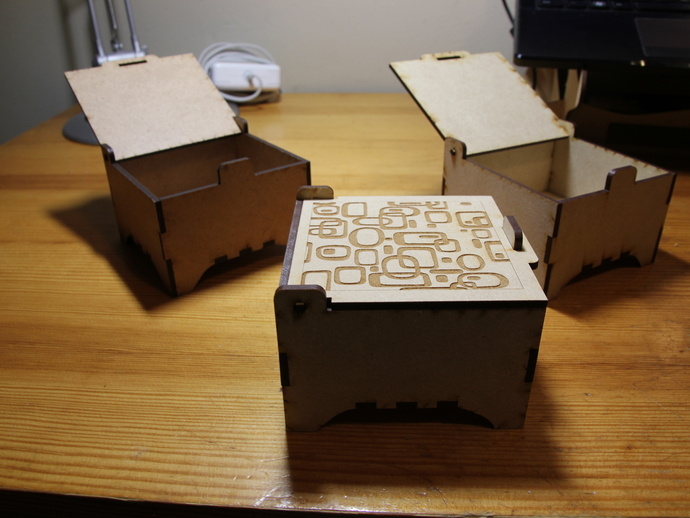 Laser cut jewelry boxes by antpgomes thingiverse for Laser cut wood box template