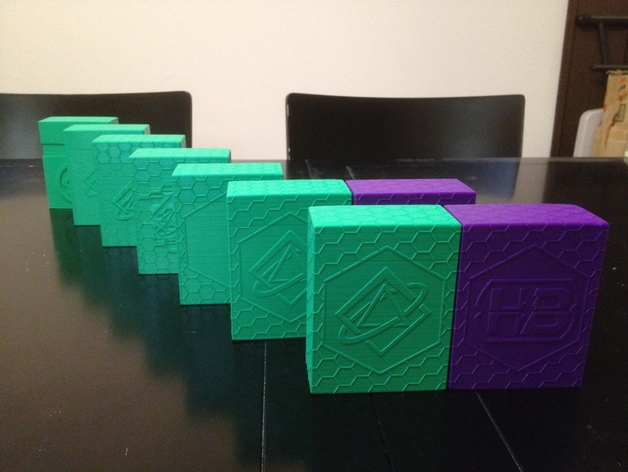 Parametric Scifi Deck Box With Two Netrunner Emblems