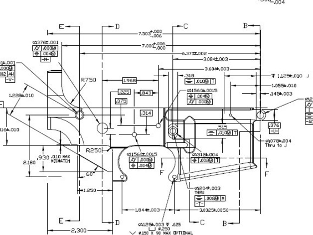 Ar 15 lower receiver cad blueprint pictures to pin on for Arkansas blueprint