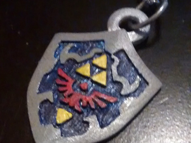 Hylian Shield Keychain/Necklace Charm