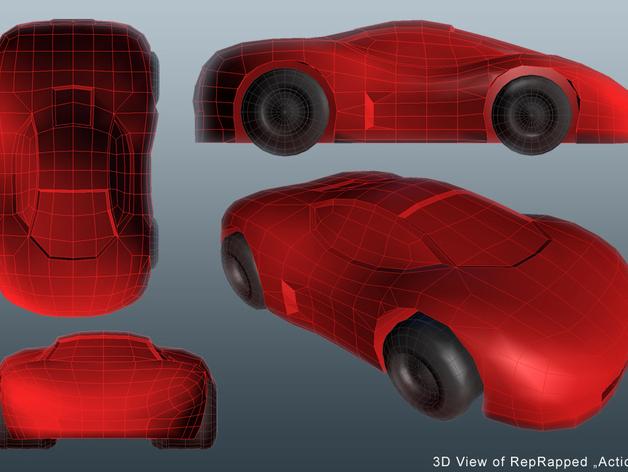 Action Car 3D View