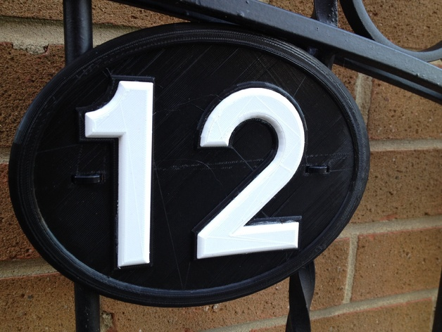Intensewalkera House Number 12 Name Plate By