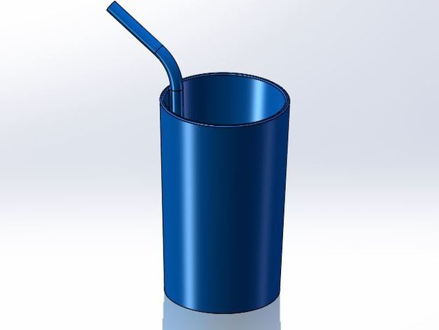 A Cup With A Built In Straw By Applico Thingiverse