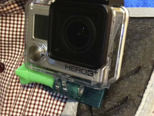 GoPro backpack strap clamp